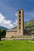 romanesque curch of sant climent de taull, catalonia, spain - stock photo