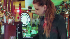 Woman drinking - dolly Stock Footage