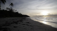Australia, Cape Tribulation, Queensland, Pan Beach to Sea Stock Footage