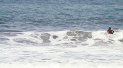 Surfer in action Stock Footage
