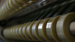 duct tape production plant 3 Stock Footage