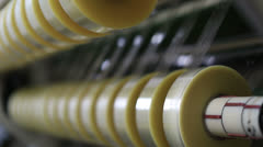 Duct tape production plant 2 Stock Footage