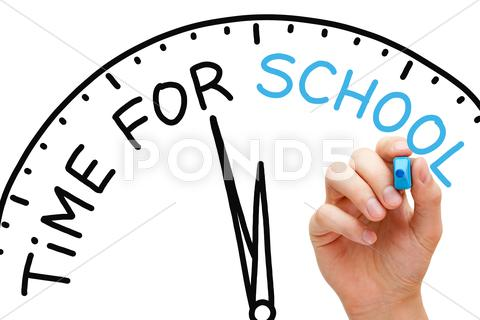 Stock Illustration of time for school