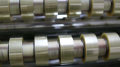 Duct tape production plant 1 Stock Footage