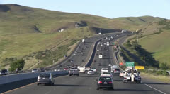 Freeway traffic, tanker delivery Stock Footage