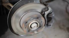 Disc brakes, automotive Stock Footage
