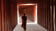 Stock Video Footage of Monk dressed in traditional Robes, Burma  4