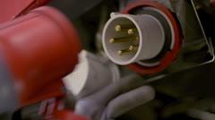 CEE Power Plug Stock Footage