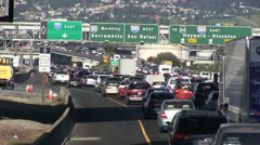 Traffic congestion, signs Stock Footage