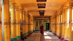 Kha Khat Wain, Kyaung Monastery, Bago, Asia Stock Footage