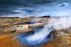Volcanism in Iceland - stock photo
