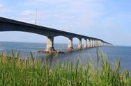 Stock Photo of confederation bridge to prince edward island