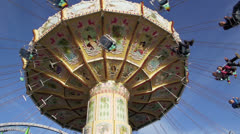 Chain swing ride on funfair Stock Footage