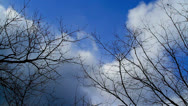 Stock Video Footage of Time lapse of clouds motion.