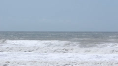 Heavy Seas and Rolling Waves - Pan Right Stock Footage