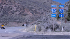 I80 east or west Stock Footage