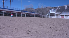 Empty Rodeo arena - stock footage