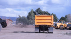 Back hoe dirt Stock Footage
