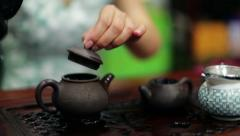 Chinese tea ceremony Stock Footage