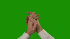 Applause on the green Chroma Key - stock footage