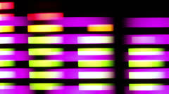 Audio graphic equaliser music technology Stock Footage