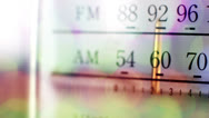 Vintage radio dial12 Stock Footage