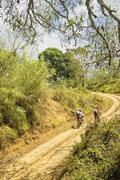 Mountain bike adventure Stock Photos