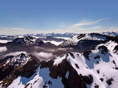 Aerial view of new zealand's southern alps Stock Photos