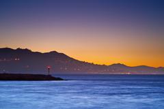 San francisco bay sunset Stock Photos