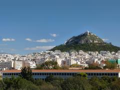 Athens, greece on a brilliant clear day Stock Photos