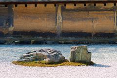 ryoan-ji garden - stock photo