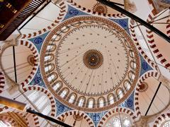 the rustem pasha mosque in istanbul, turkey - stock photo