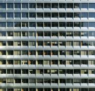 Repetitive modern facade Stock Photos