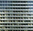 Stock Photo of repetitive modern facade