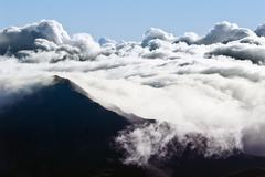 Clouds atop haleakala Stock Photos
