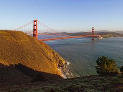 The golden gate bridge as seen from the marin headlands Stock Photos