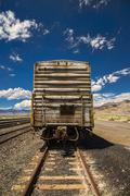 Rusted freight train. Stock Photos