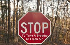 Stop To Take A Breathe Of Fresh Air - stock photo