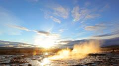 Stock Video Footage of Geyser Strokkur, Iceland
