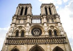 Twin tower of Norte Dame - stock photo