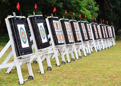 Archery targets Stock Photos