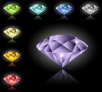 Jewels and diamonds set Stock Illustration