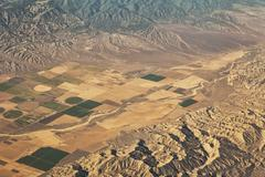 California farms from the air Stock Photos