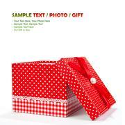 red gift box - stock photo