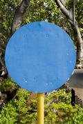 blue signage - stock photo