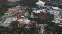 Aerial News Footage of the Walt Disney World Resort in Orlando Florida - stock footage