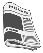 Newspaper vector. illustration Stock Illustration