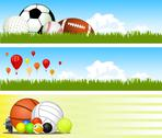 Stock Illustration of sport banners. vector