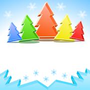 Stock Illustration of crystal colorful christmas trees