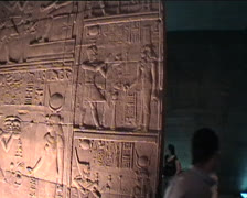 Hieroglyphics inside Temple at Philae in Egypt Stock Footage